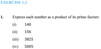 NCERT Solutions for Class 10 Maths Chapter 1 Real Numbers Ex 1.2 1