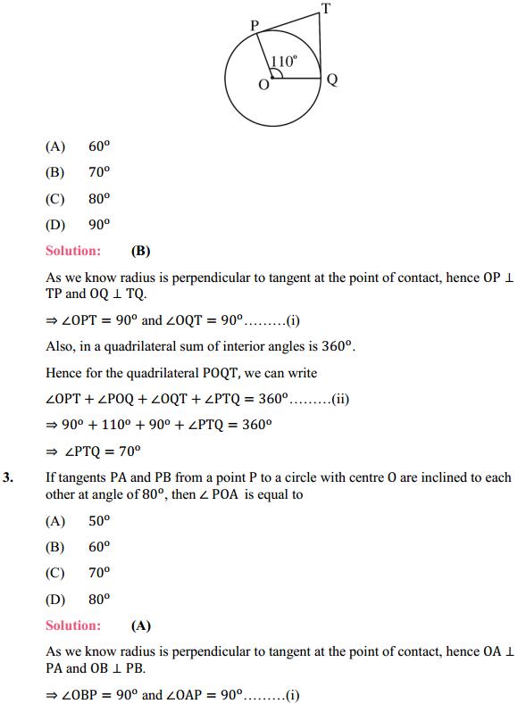 NCERT Solutions for Class 10 Maths Chapter 10 Circles Ex 10.2 2
