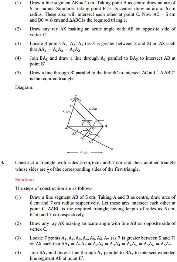 NCERT Solutions for Class 10 Maths Chapter 11 Constructions Ex 11.1 2