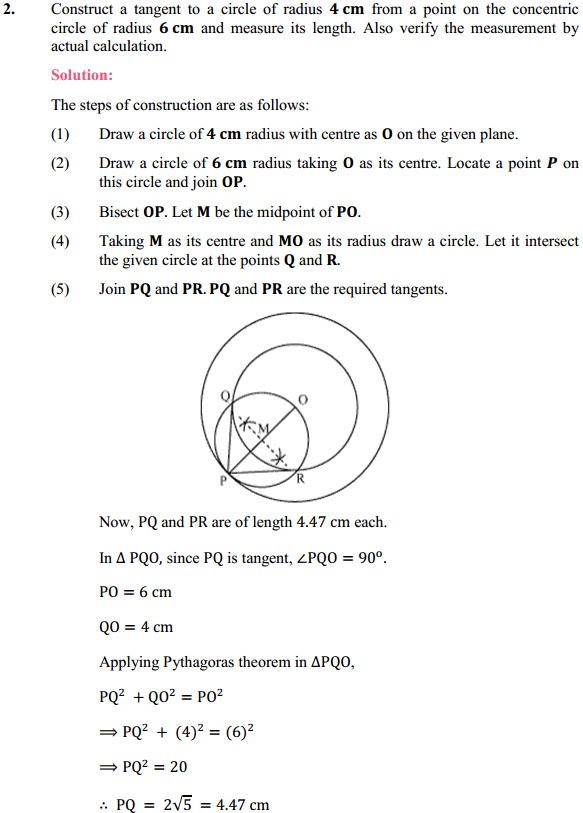NCERT Solutions for Class 10 Maths Chapter 11 Constructions Ex 11.2 2
