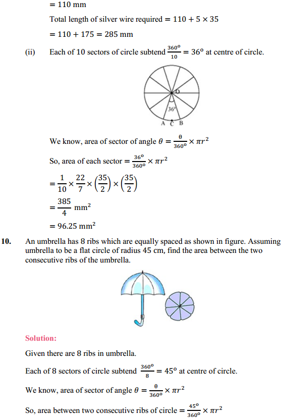 NCERT Solutions for Class 10 Maths Chapter 12 Areas Related to Circles Ex 12.2 11