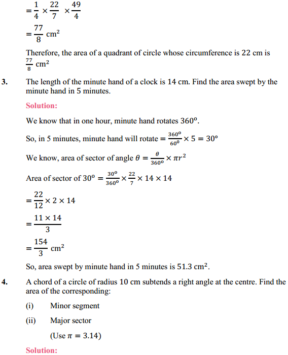 NCERT Solutions for Class 10 Maths Chapter 12 Areas Related to Circles Ex 12.2 3