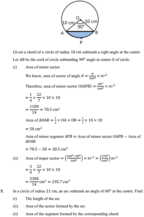 NCERT Solutions for Class 10 Maths Chapter 12 Areas Related to Circles Ex 12.2 4