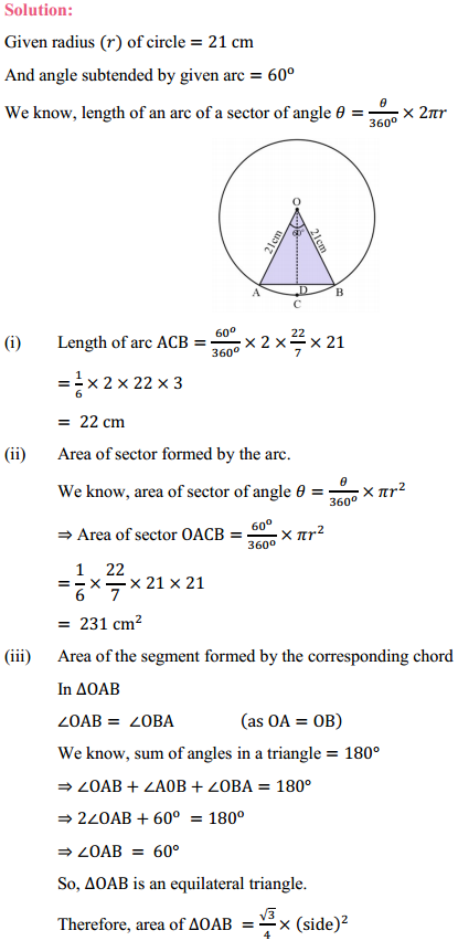 NCERT Solutions for Class 10 Maths Chapter 12 Areas Related to Circles Ex 12.2 5