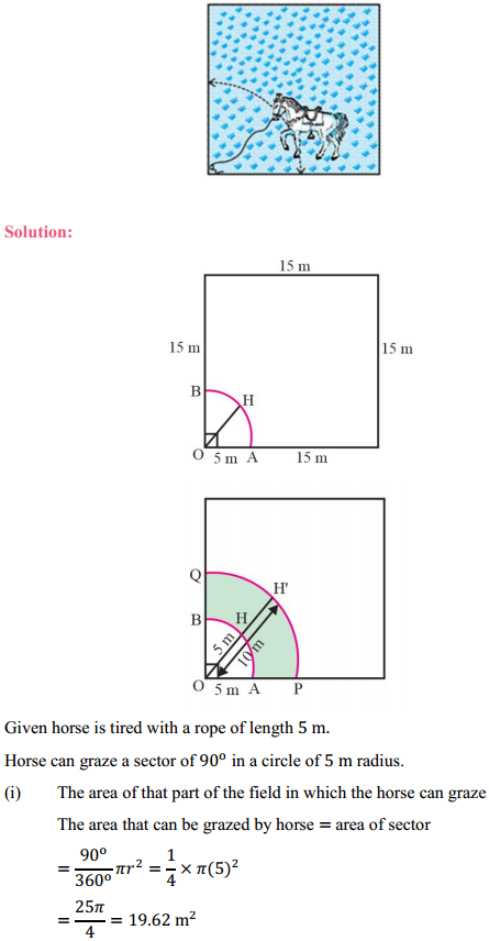 NCERT Solutions for Class 10 Maths Chapter 12 Areas Related to Circles Ex 12.2 9