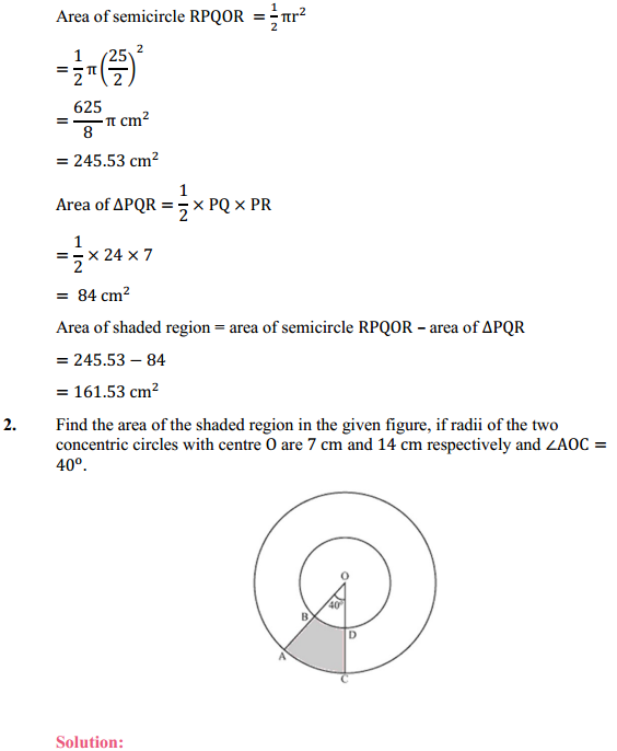 NCERT Solutions for Class 10 Maths Chapter 12 Areas Related to Circles Ex 12.3 2