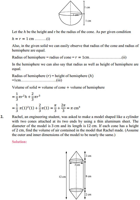 NCERT Solutions for Class 10 Maths Chapter 13 Surface Areas and Volumes Ex 13.2 2