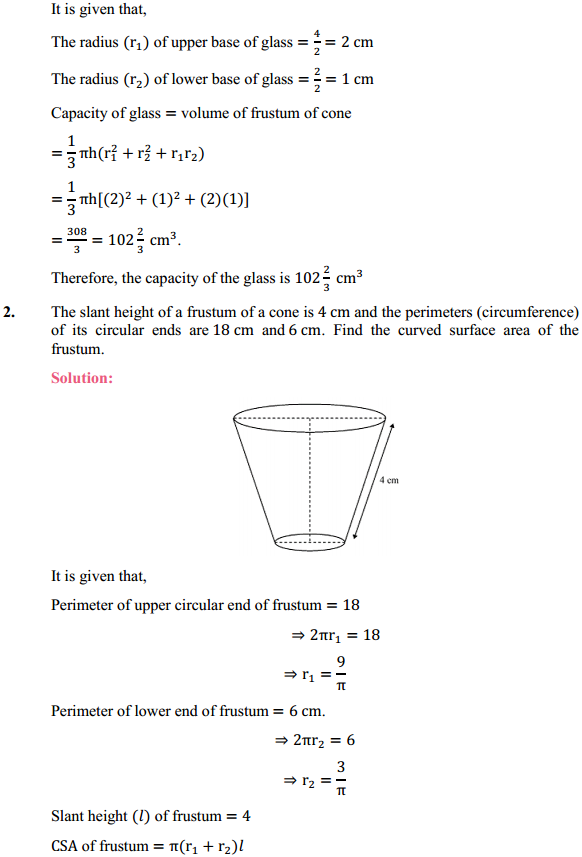 NCERT Solutions for Class 10 Maths Chapter 13 Surface Areas and Volumes Ex 13.4 2