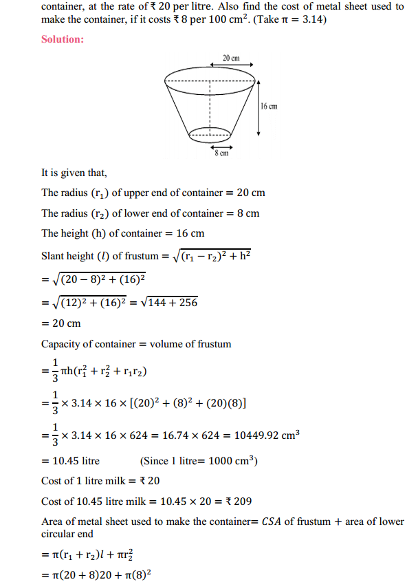 NCERT Solutions for Class 10 Maths Chapter 13 Surface Areas and Volumes Ex 13.4 4