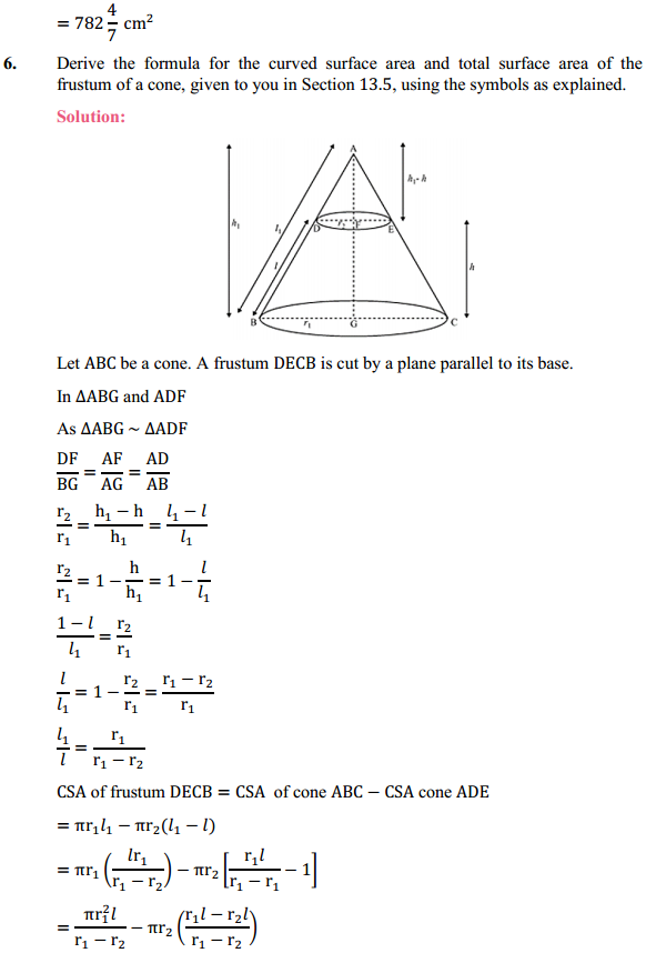 NCERT Solutions for Class 10 Maths Chapter 13 Surface Areas and Volumes Ex 13.5 6