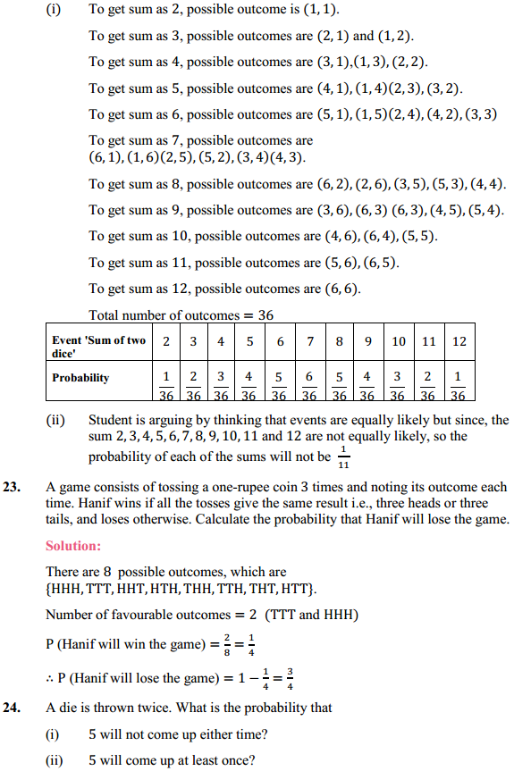 NCERT Solutions for Class 10 Maths Chapter 15 Probability Ex 15.1 11