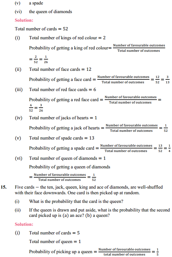 NCERT Solutions for Class 10 Maths Chapter 15 Probability Ex 15.1 7