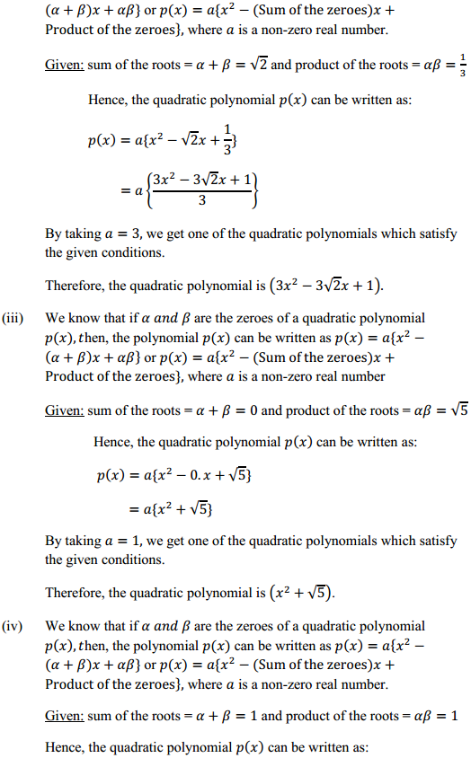 NCERT Solutions for Class 10 Maths Chapter 2 Polynomials Ex 2.2 6
