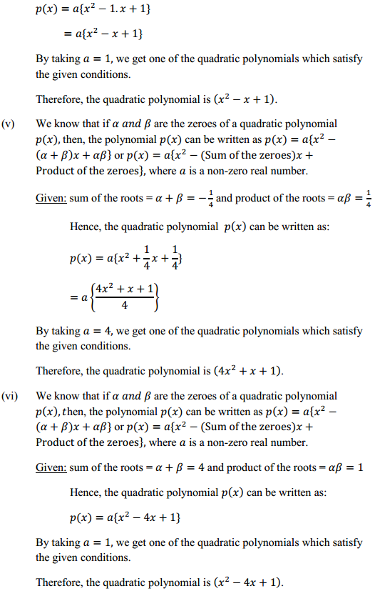 NCERT Solutions for Class 10 Maths Chapter 2 Polynomials Ex 2.2 7