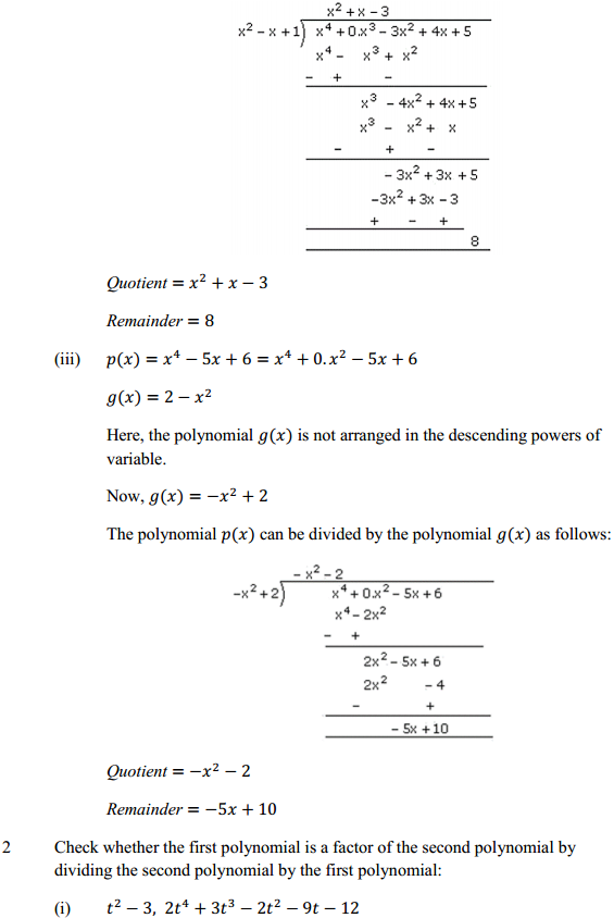 NCERT Solutions for Class 10 Maths Chapter 2 Polynomials Ex 2.3 2