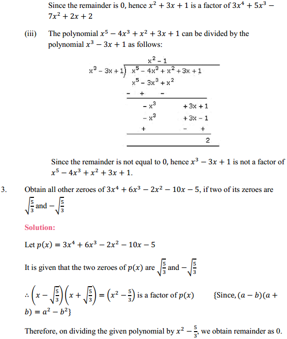 NCERT Solutions for Class 10 Maths Chapter 2 Polynomials Ex 2.3 4