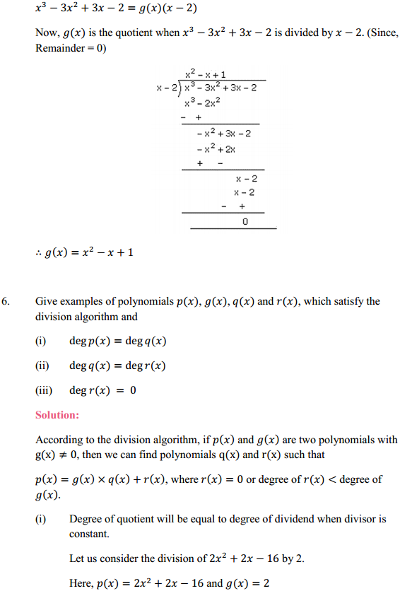 NCERT Solutions for Class 10 Maths Chapter 2 Polynomials Ex 2.3 6