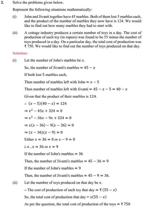 NCERT Solutions for Class 10 Maths Chapter 4 Quadratic Equations Ex 4.2 4