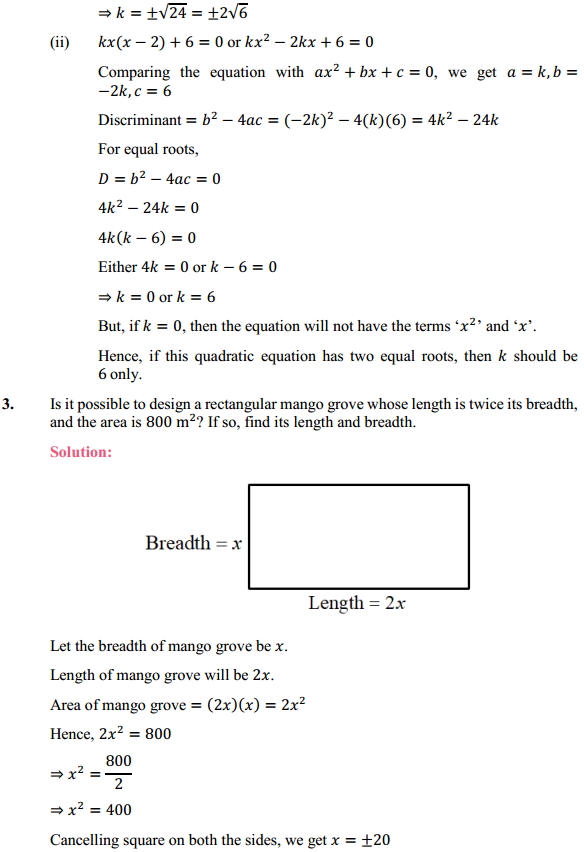 NCERT Solutions for Class 10 Maths Chapter 4 Quadratic Equations Ex 4.4 3