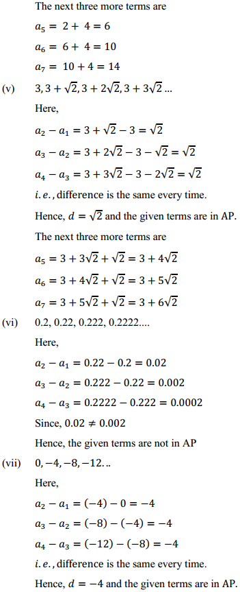 NCERT Solutions for Class 10 Maths Chapter 5 Arithmetic Progressions Ex 5.1 7