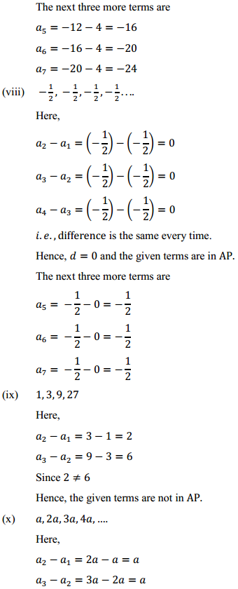 NCERT Solutions for Class 10 Maths Chapter 5 Arithmetic Progressions Ex 5.1 8