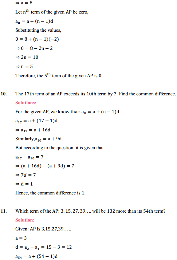 NCERT Solutions for Class 10 Maths Chapter 5 Arithmetic Progressions Ex 5.2 13