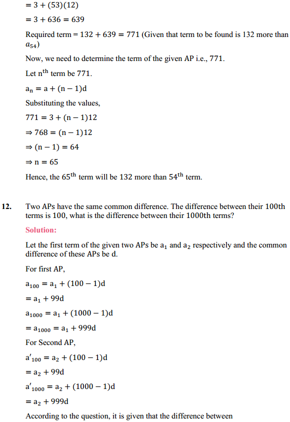 NCERT Solutions for Class 10 Maths Chapter 5 Arithmetic Progressions Ex 5.2 14