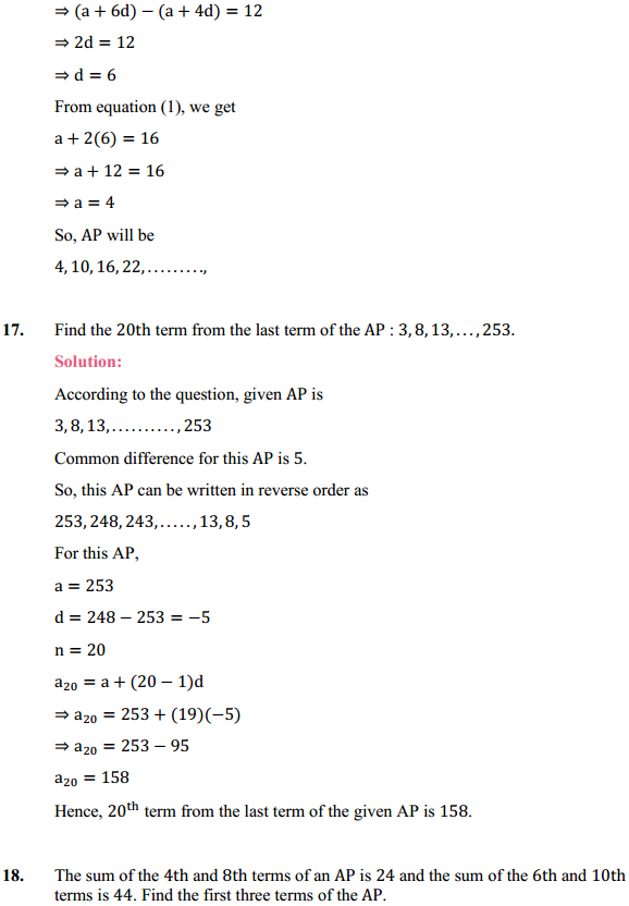 NCERT Solutions for Class 10 Maths Chapter 5 Arithmetic Progressions Ex 5.2 18