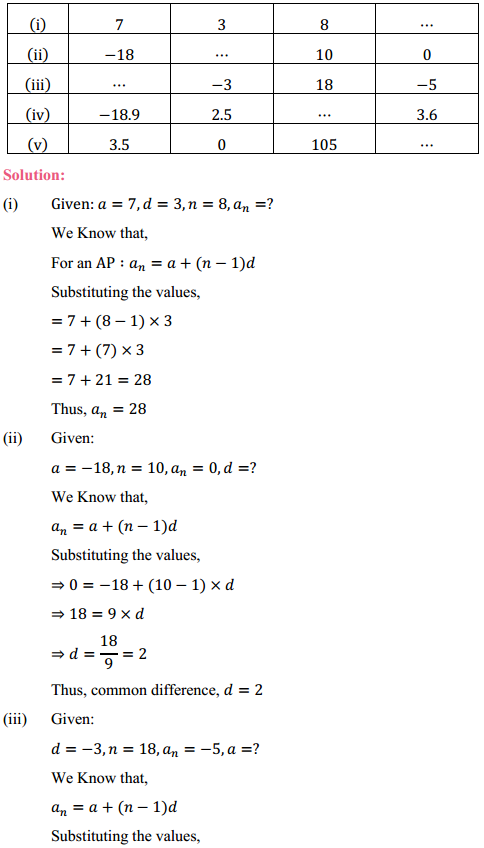 NCERT Solutions for Class 10 Maths Chapter 5 Arithmetic Progressions Ex 5.2 2