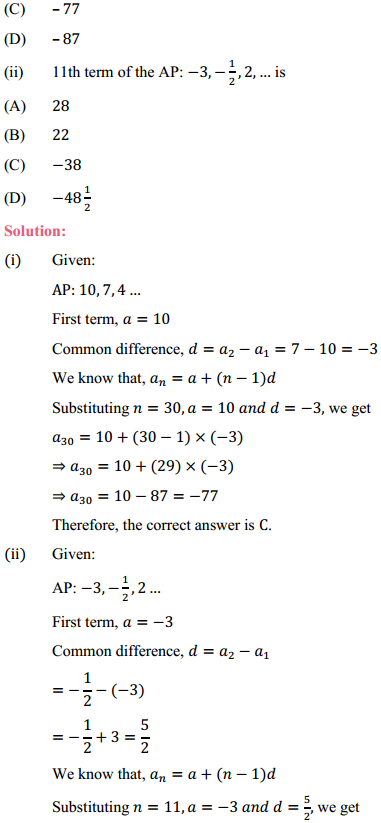NCERT Solutions for Class 10 Maths Chapter 5 Arithmetic Progressions Ex 5.2 4