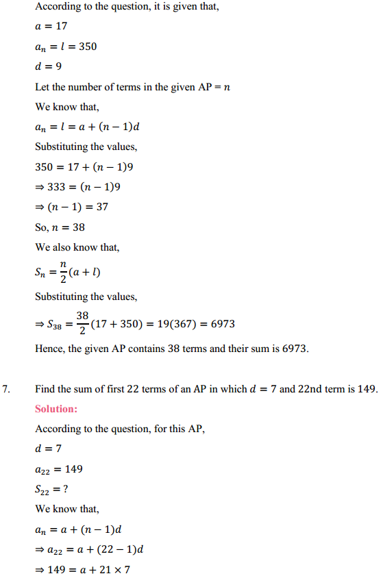 NCERT Solutions for Class 10 Maths Chapter 5 Arithmetic Progressions Ex 5.3 14