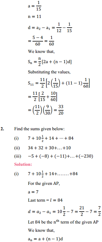 NCERT Solutions for Class 10 Maths Chapter 5 Arithmetic Progressions Ex 5.3 3