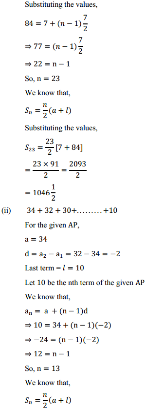 NCERT Solutions for Class 10 Maths Chapter 5 Arithmetic Progressions Ex 5.3 4