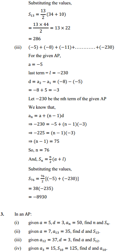 NCERT Solutions for Class 10 Maths Chapter 5 Arithmetic Progressions Ex 5.3 5
