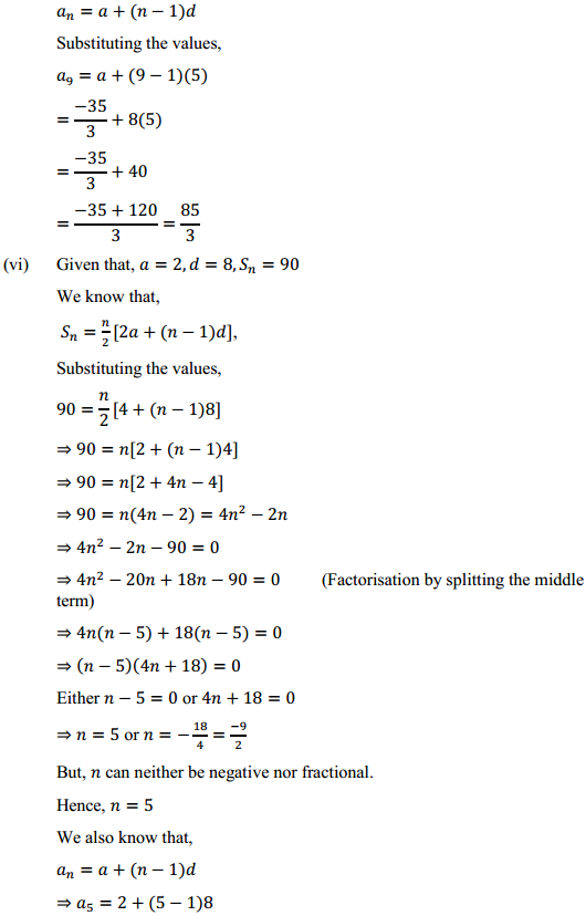 NCERT Solutions for Class 10 Maths Chapter 5 Arithmetic Progressions Ex 5.3 9