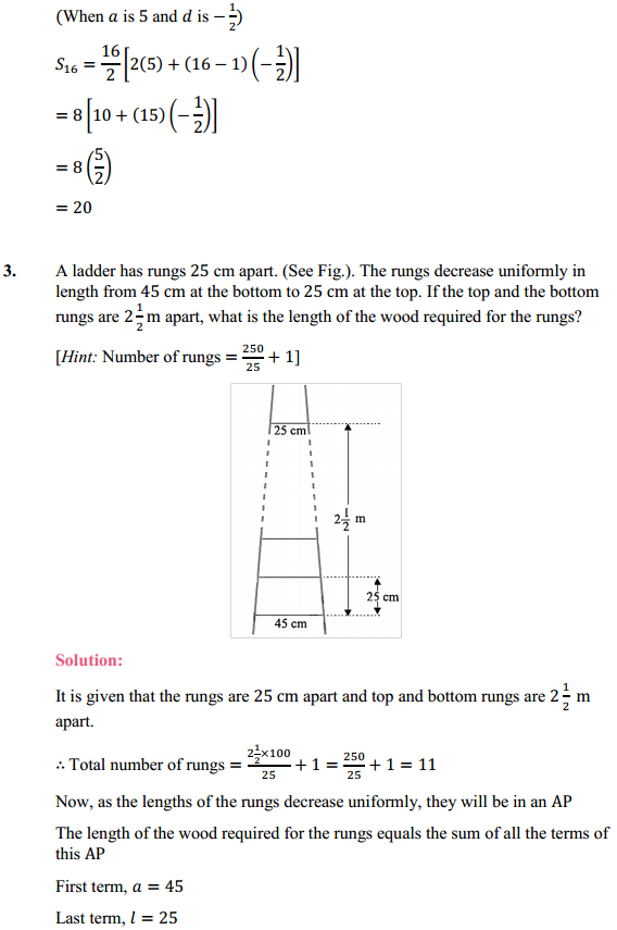 NCERT Solutions for Class 10 Maths Chapter 5 Arithmetic Progressions Ex 5.4 3