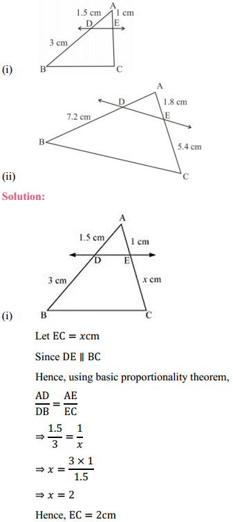 NCERT Solutions for Class 10 Maths Chapter 6 Triangles Ex 6.2 2