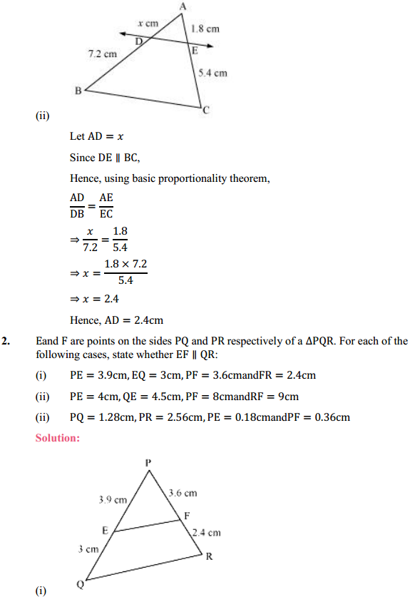 NCERT Solutions for Class 10 Maths Chapter 6 Triangles Ex 6.2 3