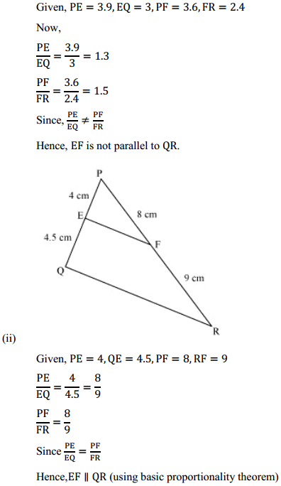 NCERT Solutions for Class 10 Maths Chapter 6 Triangles Ex 6.2 4
