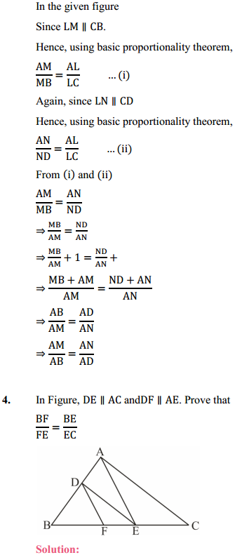 NCERT Solutions for Class 10 Maths Chapter 6 Triangles Ex 6.2 6