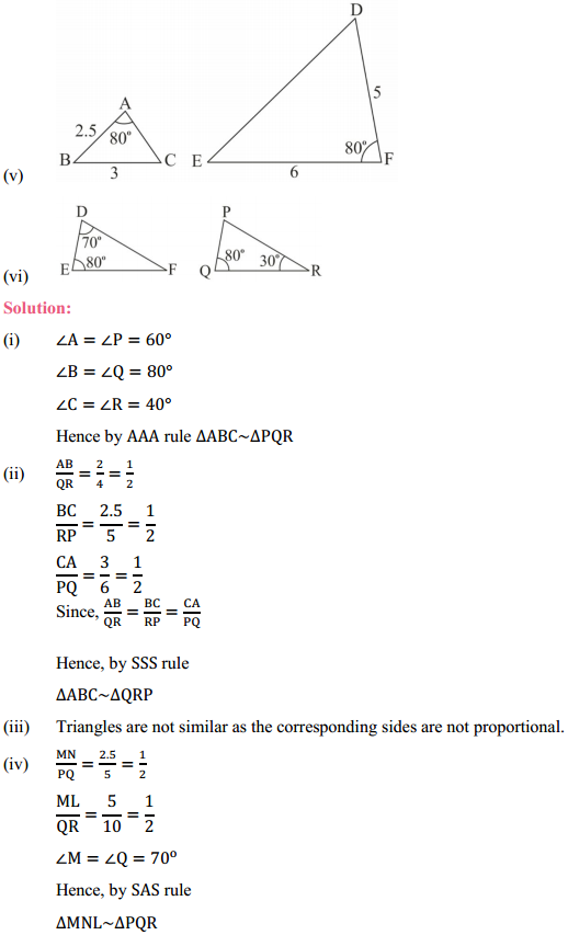 NCERT Solutions for Class 10 Maths Chapter 6 Triangles Ex 6.3 2