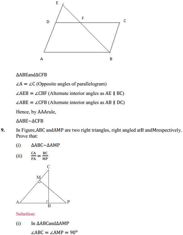 NCERT Solutions for Class 10 Maths Chapter 6 Triangles Ex 6.3 9