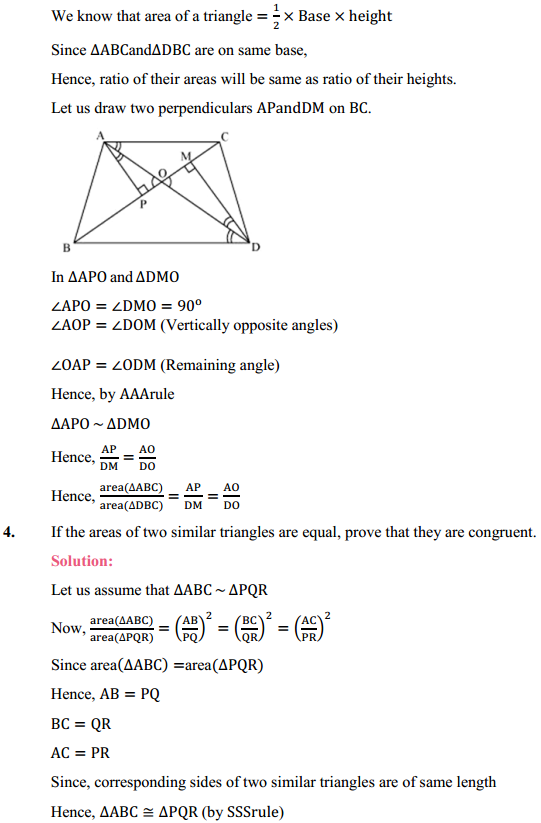 NCERT Solutions for Class 10 Maths Chapter 6 Triangles Ex 6.4 3