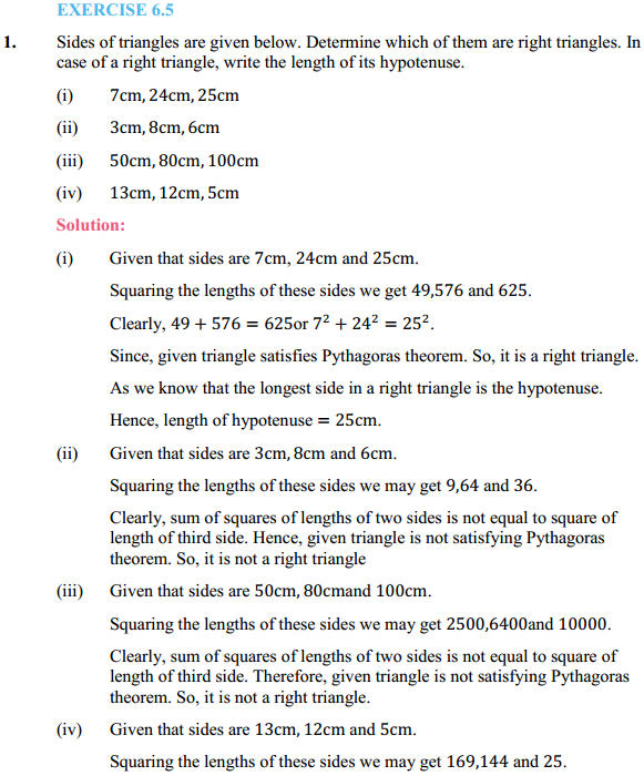 NCERT Solutions for Class 10 Maths Chapter 6 Triangles Ex 6.5 1