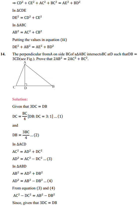 NCERT Solutions for Class 10 Maths Chapter 6 Triangles Ex 6.5 10