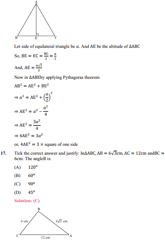 NCERT Solutions for Class 10 Maths Chapter 6 Triangles Ex 6.5 12