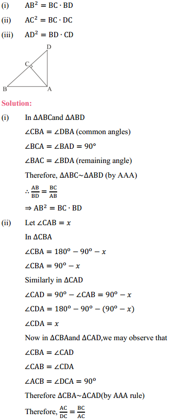 NCERT Solutions for Class 10 Maths Chapter 6 Triangles Ex 6.5 3