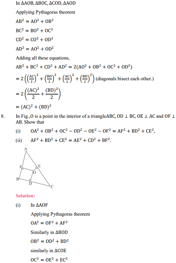 NCERT Solutions for Class 10 Maths Chapter 6 Triangles Ex 6.5 6