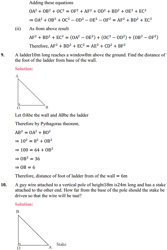 NCERT Solutions for Class 10 Maths Chapter 6 Triangles Ex 6.5 7