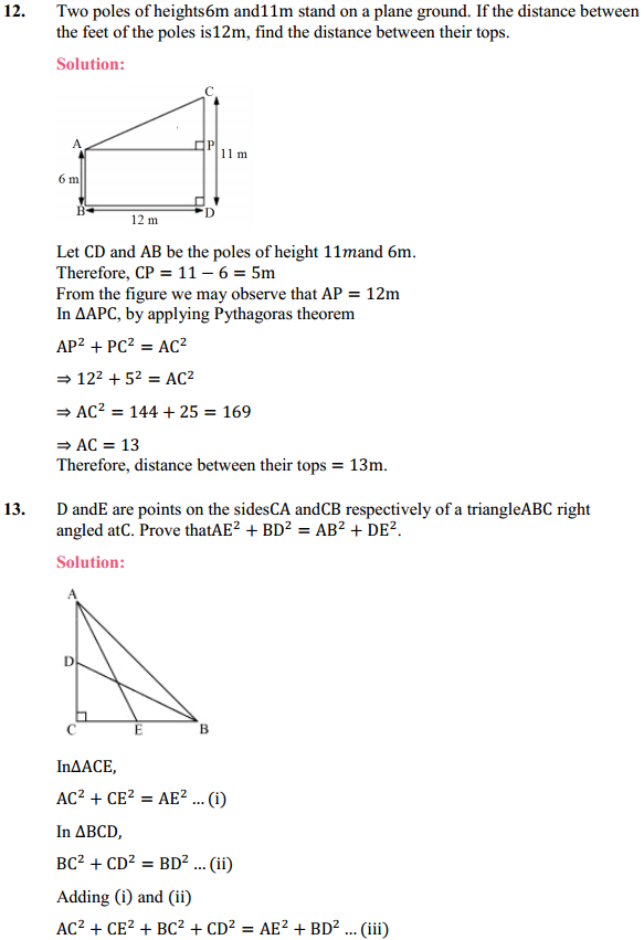 NCERT Solutions for Class 10 Maths Chapter 6 Triangles Ex 6.5 9
